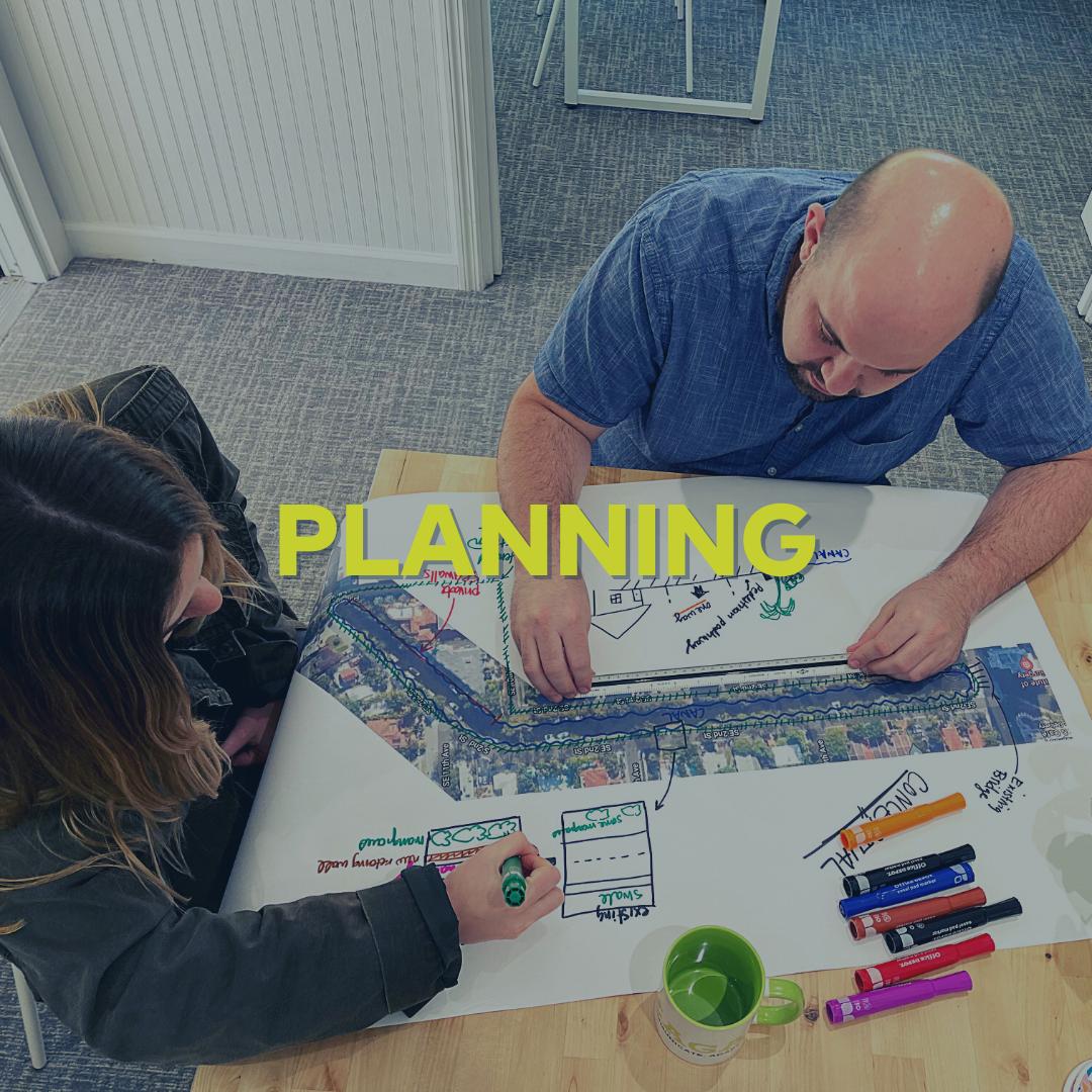Photo of staff planning.